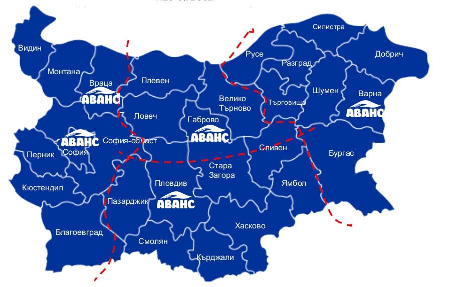 map Regionalni Ofisi